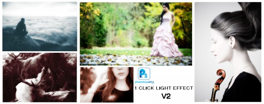 LIGHT EFFECT 1 CLICK PHOTOSHOP ACTION V2