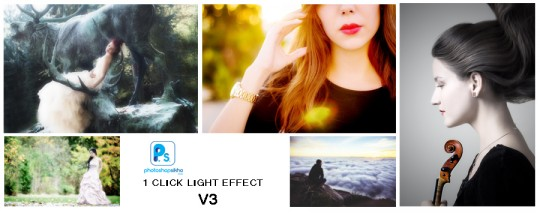 LIGHT EFFECT 1 CLICK PHOTOSHOP ACTION V3